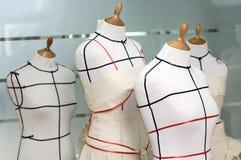 Dressmaker mannequines. Four Taylor mannequins / dressmaker dummies royalty free stock image