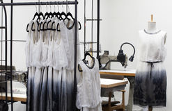 At dressmaker's work Royalty Free Stock Photo