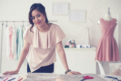 Dressmaker at studio Stock Photos