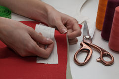 Dressmaker work Royalty Free Stock Photos