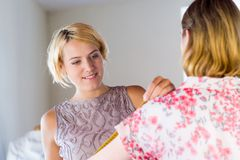 Dressmaker at work Royalty Free Stock Image