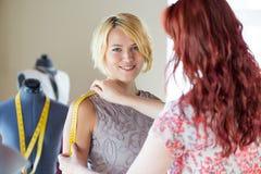 Dressmaker at work Royalty Free Stock Photo