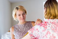 Dressmaker at work Stock Image