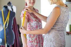 Dressmaker at work Royalty Free Stock Photography