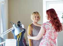 Dressmaker at work Royalty Free Stock Photo