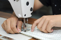 Dressmaker in working Stock Image
