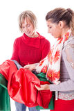 Dressmakers Choosing the fabric Stock Images