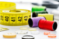Dressmakers sewing materials Stock Photos