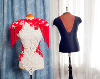 Dressmakers and taylor mannequin fashion Stock Images