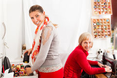 Dressmakers working together Royalty Free Stock Photography