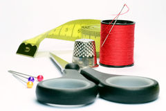 Dressmaking εξαρτήματα Στοκ φωτογραφία με δικαίωμα ελεύθερης χρήσης