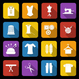 Dressmaking icons Royalty Free Stock Photo