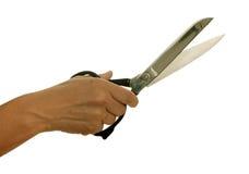dressmaking ręki odosobneni nożyce Fotografia Royalty Free