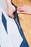 Dressmaking smokingowy ono zgadza się z wzorem Obrazy Stock