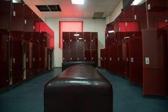 Dressroom nel centro di forma fisica fotografia stock