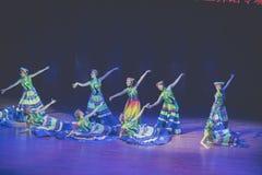Dressuur 2 de volksdans van Axi sprong-Yi van het dansdrama stock foto's