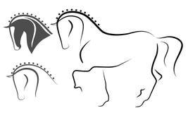 Dressuurpaard Royalty-vrije Stock Afbeelding