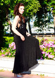 Dressy beautiful young woman portrait royalty free stock photography
