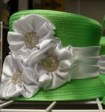 Fancy hat for derby day. Dressy ladies hat for a formal occasion Stock Photo