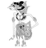 Drestayumna. A character of traditional puppet show, wayang kulit from java indonesia vector illustration