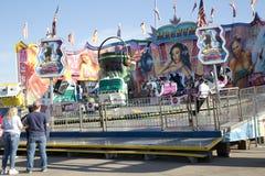 Dreszcz przejażdżki przy jarmarku parkiem Dallas fotografia royalty free