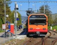Drev av Uetliberg den järnväg linjen i Zurich, Schweiz Arkivfoto