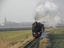 Drev för ånga för smalt mått järnväg Royaltyfri Fotografi