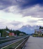 drev för alberta banff Kanada cpr-station Royaltyfri Foto