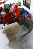 Drev för danandebarnfiber Fotografering för Bildbyråer