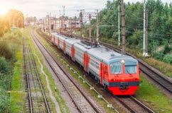 Drev för elektriskt drev på stationen St Petersburg Royaltyfri Fotografi