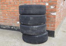 Drev för fyra hjul Rubber gummihjul Sommargummiuppsättning för bilen Royaltyfria Bilder