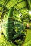 Drev för gångtunnel för Moskva` s i bussgarage för `-Izmailovo ` Juni 09, 2017 moscow Ryssland Arkivfoto