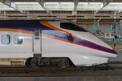 Drev (för snabb eller Shinkansen) kula för serie E3 på Shinjo statistik Royaltyfria Bilder