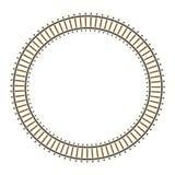 drev för spår för cirkeloändlighet järnväg Arkivfoton