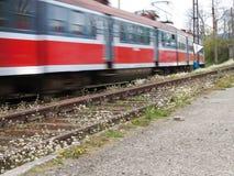 Drev järnvägsspår Royaltyfri Foto