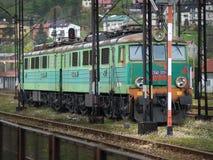 Drev järnvägsspår Arkivbild