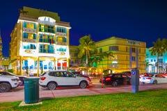 Drev Miami Beach för Barbizon hotellhav Arkivbild