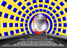 Drev och den optiska illusionen Arkivbild