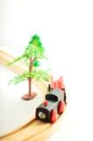 Drev och lastbil, kran illustrationtoys för barn 3d Royaltyfri Fotografi