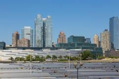 Drev på ändstationjärnvägsstationen, 30th St-terminal i centret av New York Fotografering för Bildbyråer