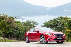 Drevdag 2016 för prov Mazda3 Fotografering för Bildbyråer