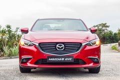Drevdag 2016 för prov Mazda3 Arkivfoton