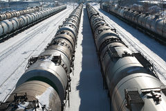 Dreven på järnvägen Royaltyfria Bilder