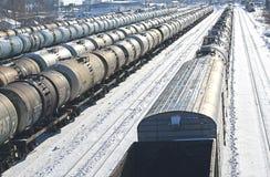 Dreven på järnvägen Royaltyfria Foton