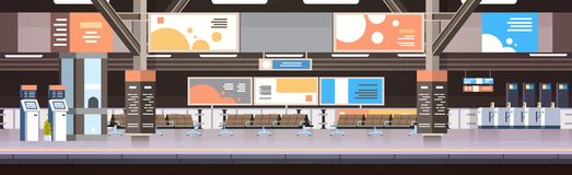 Drevgångtunnel eller inre tom plattform för järnvägsstation med inget begrepp för passageraretransport och trans. stock illustrationer