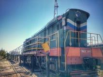 Drevlokomotiv CHME-3 Arkivfoton