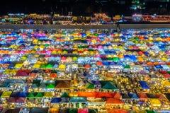 Drevnattmarknad i Bangkok Royaltyfri Bild