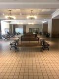 Drevstation i stadens centrum Dallas Arkivbilder