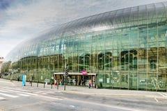 Drevstation i Strasbourg - Frankrike arkivfoton