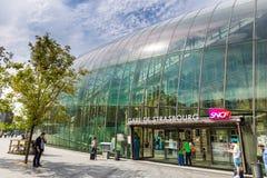 Drevstation i Strasbourg - Frankrike arkivbilder